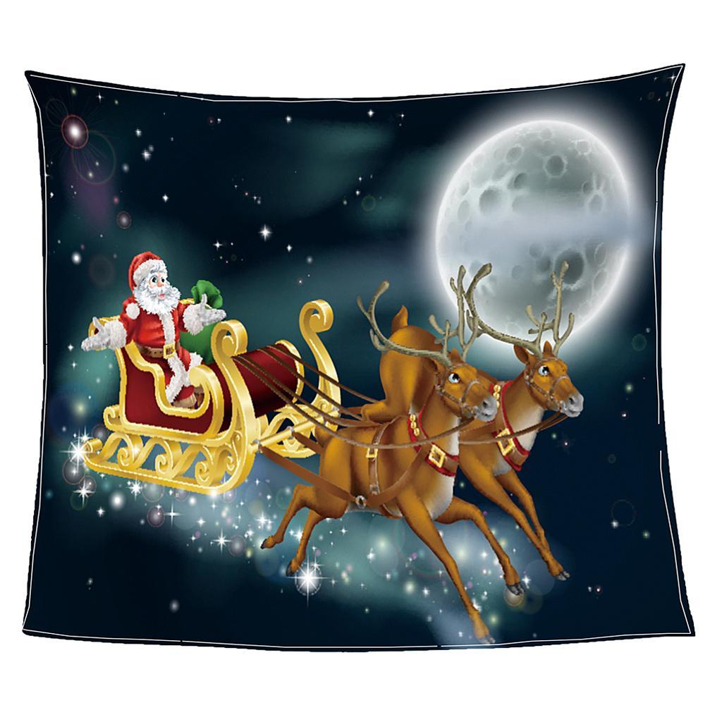 Kalte Winter Flanell Decke Weihnachtsdruck Super Soft Warm Sofa Überwurfdecke 2