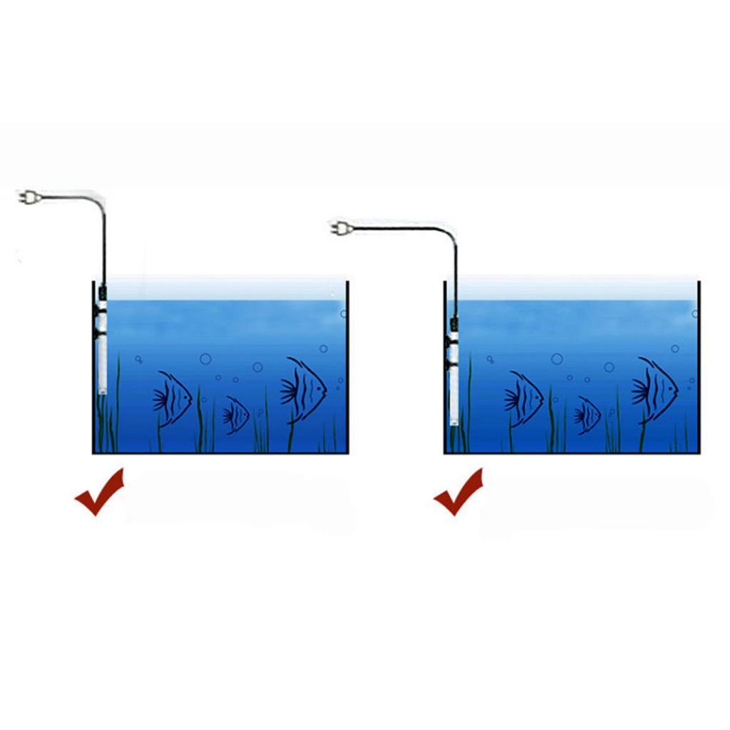 25-50-100-200-300-Aquarium-Mini-Submersible-Fish-Tank-reglable-chauffe-eau miniature 11