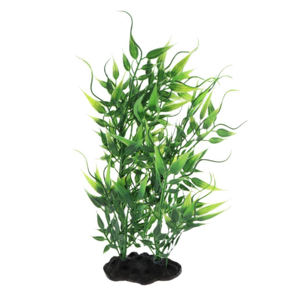 Vivarium-Paysage-Decor-Reptile-Crawler-Boite-Ornement-Artificiel-Bambou-Feuilles miniature 9