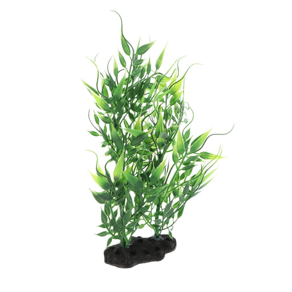 Vivarium-Paysage-Decor-Reptile-Crawler-Boite-Ornement-Artificiel-Bambou-Feuilles miniature 10