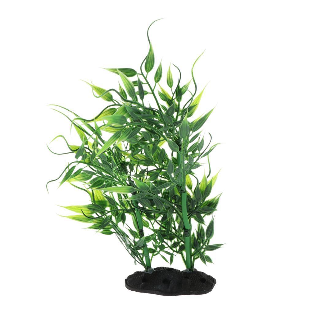 Vivarium-Paysage-Decor-Reptile-Crawler-Boite-Ornement-Artificiel-Bambou-Feuilles miniature 11
