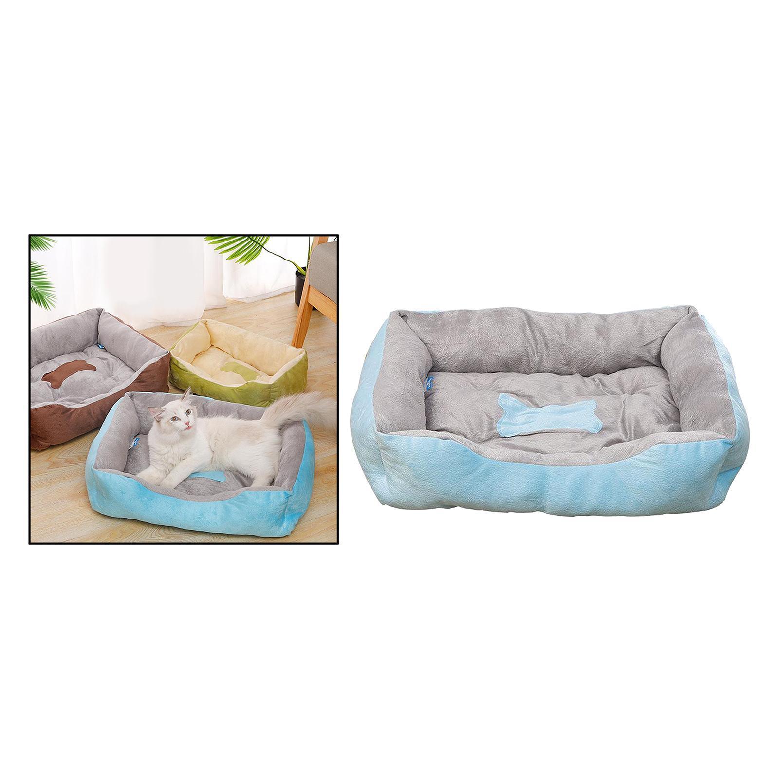 Indexbild 54 - Katze-Hund-Bett-Pet-Kissen-Betten-Haus-Schlaf-Soft-Warmen-Zwinger-Decke-Nest
