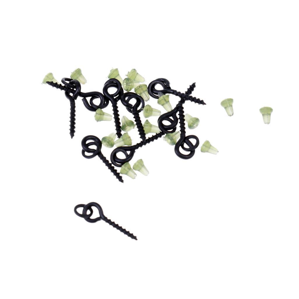 10-x-Bait-Screws-with-Link-Loops-20-x-Hook-Stops-Carp-Fishing-Tackle-Chod-Rigs thumbnail 3