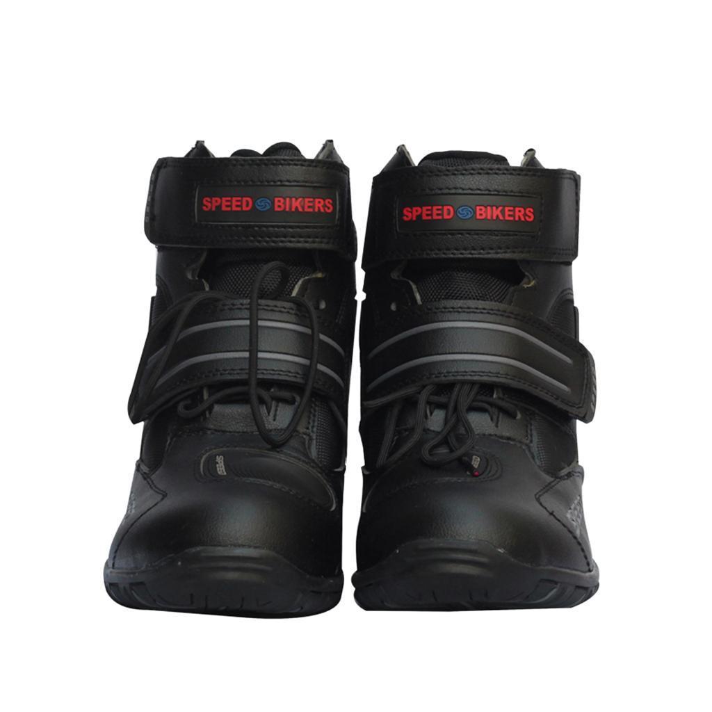 1-PAIA-CORTO-MOTO-Protezione-Caviglia-Stivali-Scarpe-Antiscivolo-Sports miniatura 6