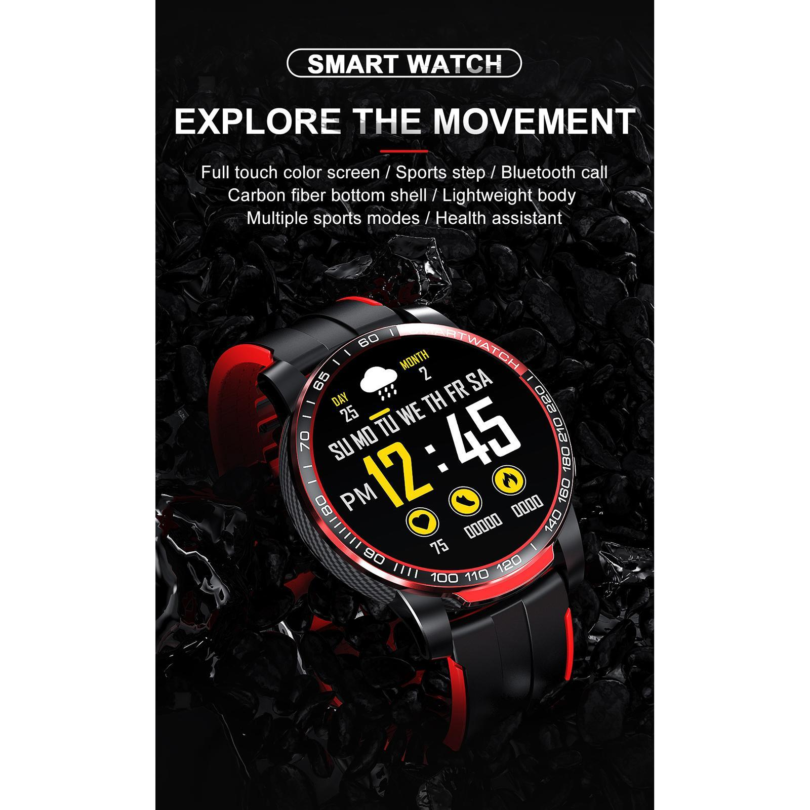 Hommes-Smart-Watch-Bluetooth-Call-Fitness-Tracker-frequence-cardiaque-sommeil miniature 37