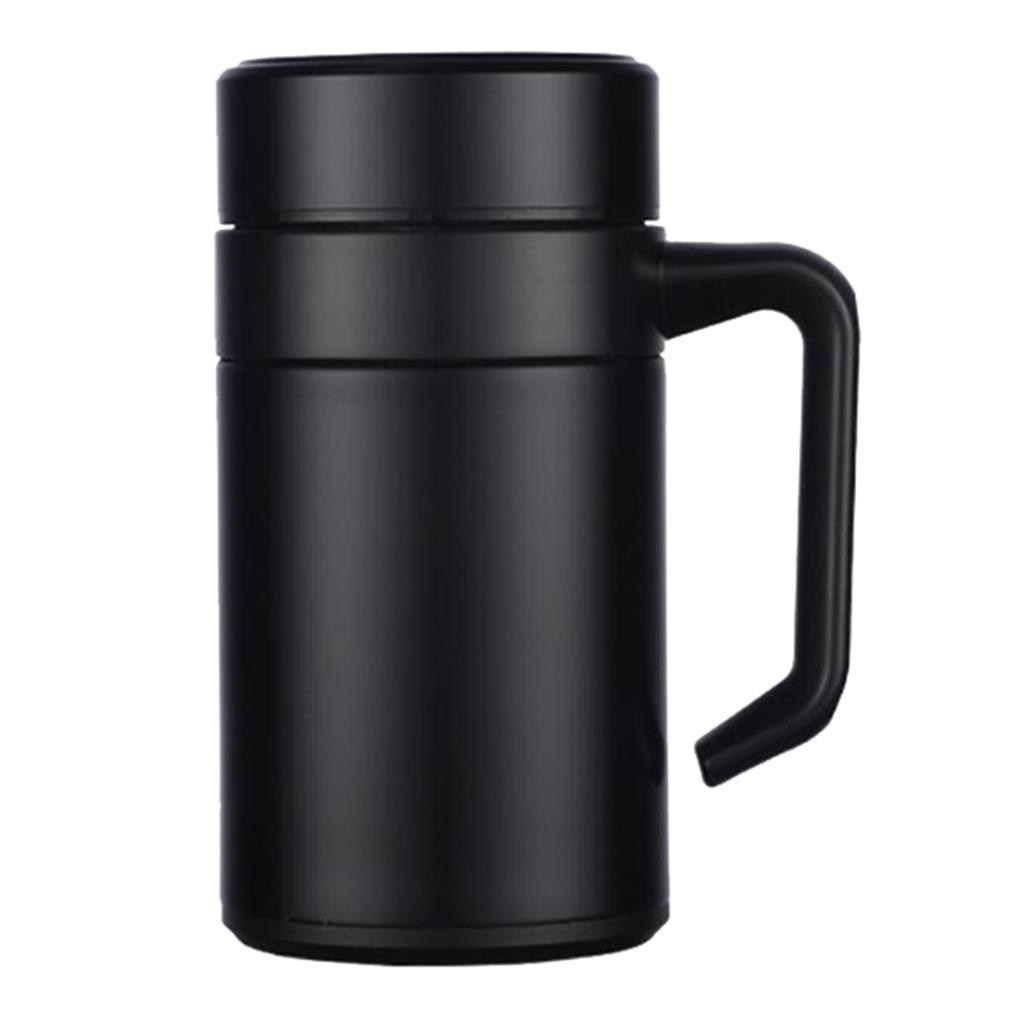 Stainless-400ml-Vacuum-Thermal-Cup-Insulated-Travel-Coffee-Mug-w-Tea-Filter thumbnail 3