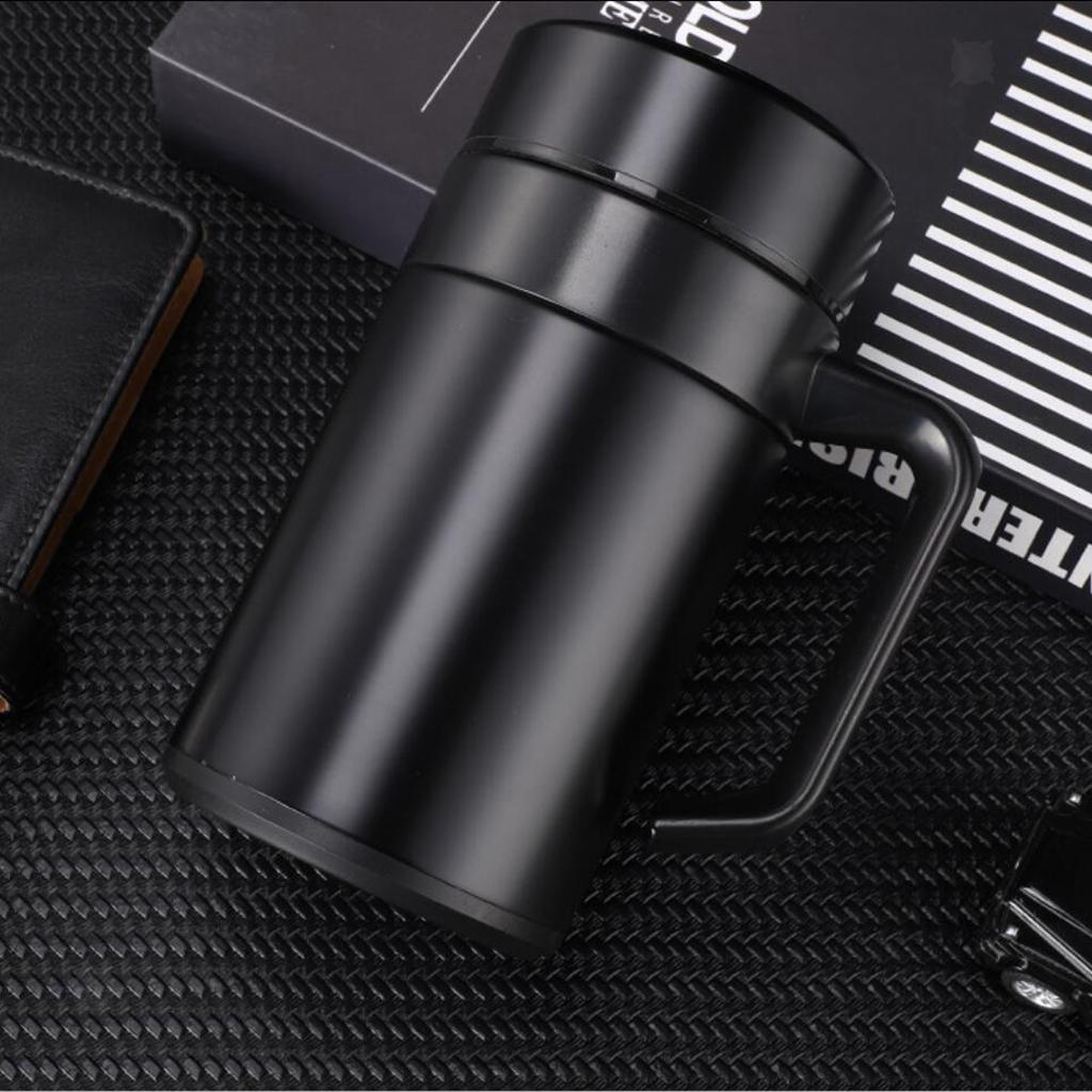 Stainless-400ml-Vacuum-Thermal-Cup-Insulated-Travel-Coffee-Mug-w-Tea-Filter thumbnail 4