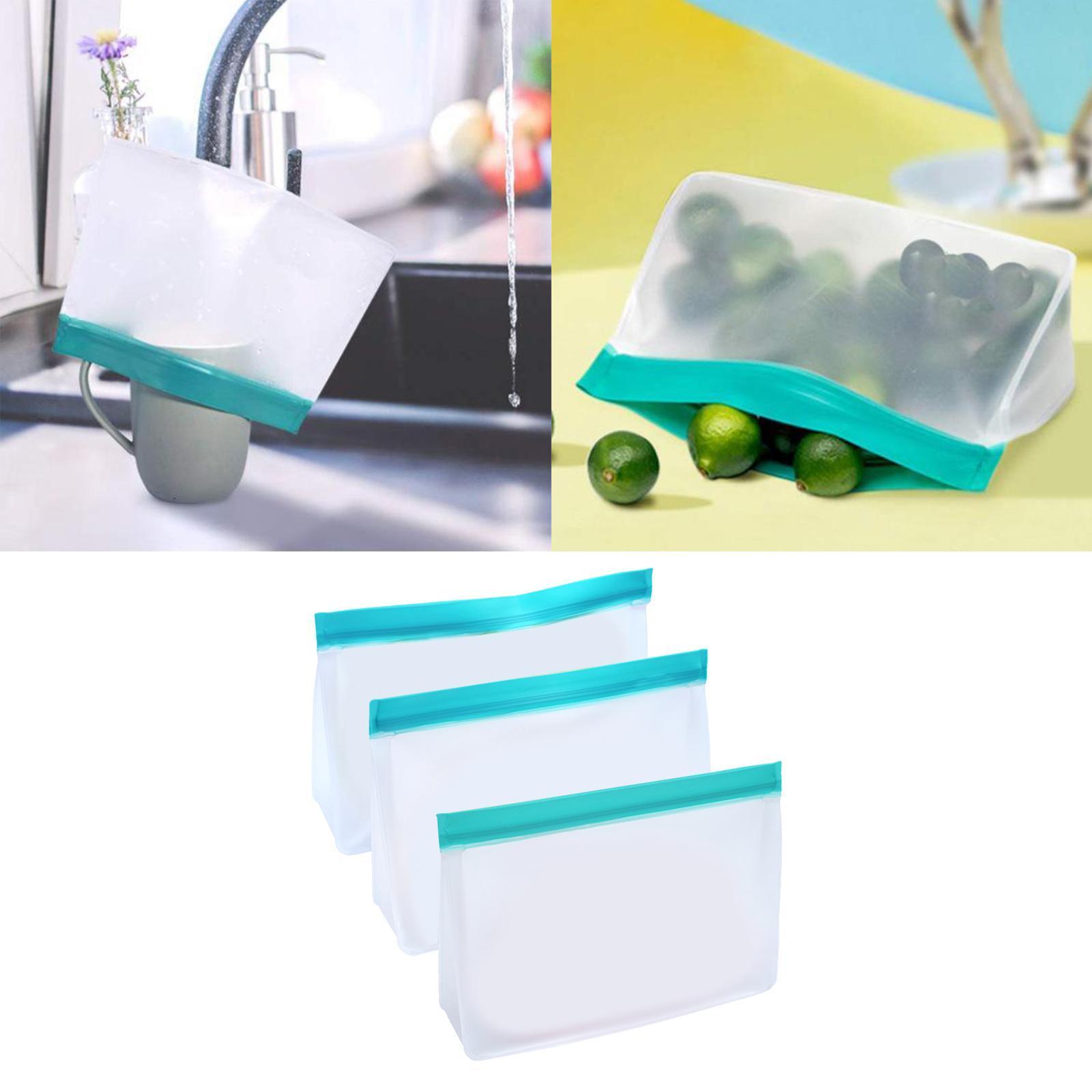 3-pezzi-di-Cibo-Sacchetto-di-Immagazzinaggio-Fresco-PEVA-Carne-Frutta-BPA-Libero miniatura 16