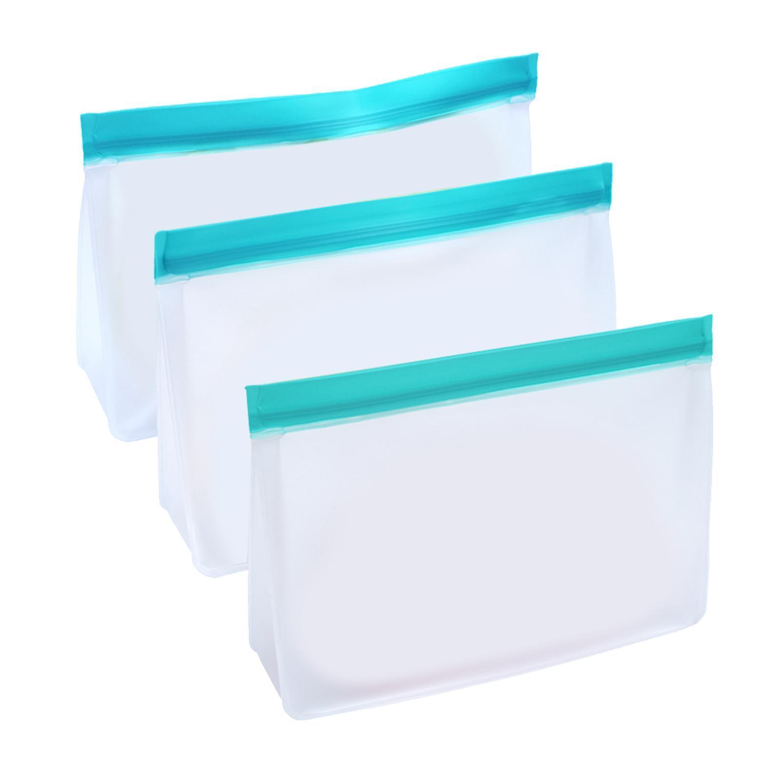 3-pezzi-di-Cibo-Sacchetto-di-Immagazzinaggio-Fresco-PEVA-Carne-Frutta-BPA-Libero miniatura 20