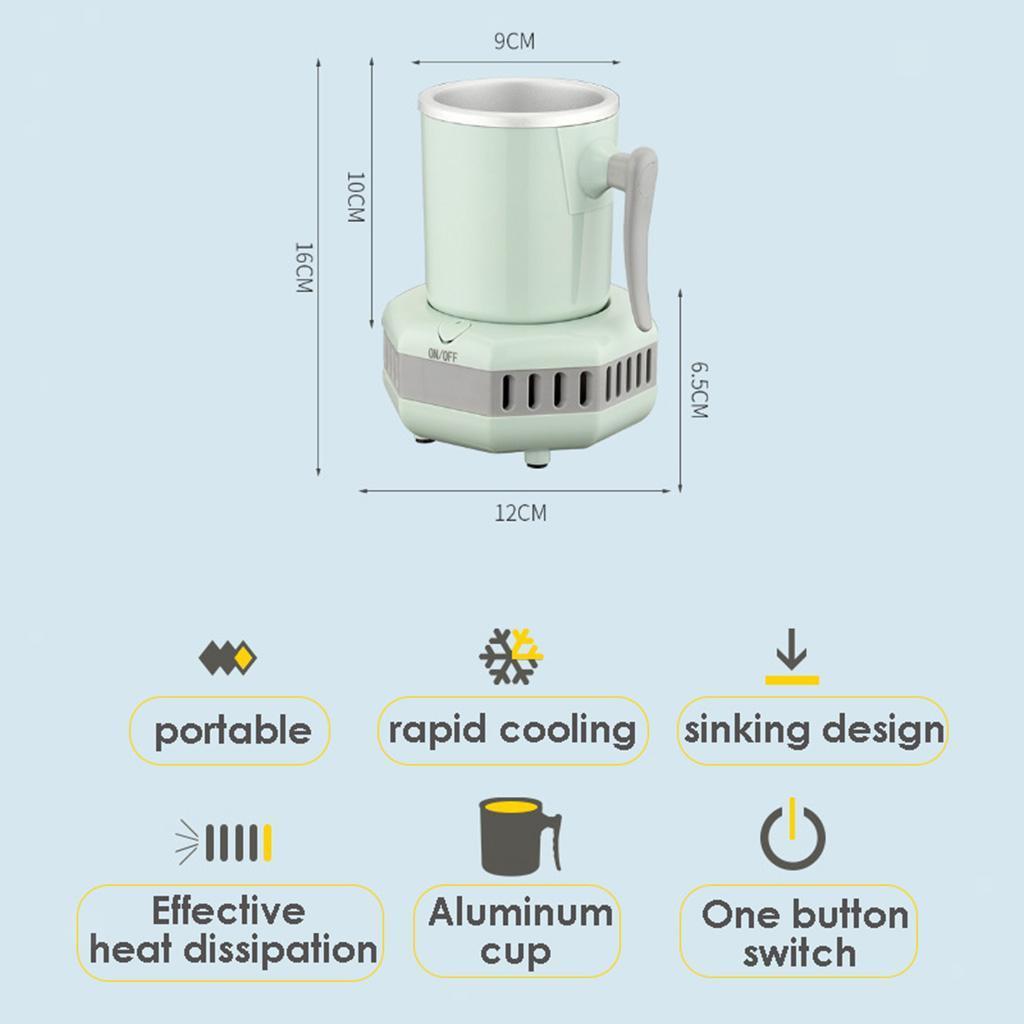 miniatura 35 - Mini Elettrica Macchina Per Macchina del Ghiaccio Mini Frigo per il Latte di