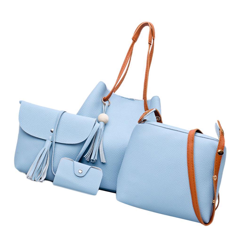 4Damen-Handtasche-mit-Perlenanhaenger-Elegant-Taschen-Shopper-Schultertasche Indexbild 24