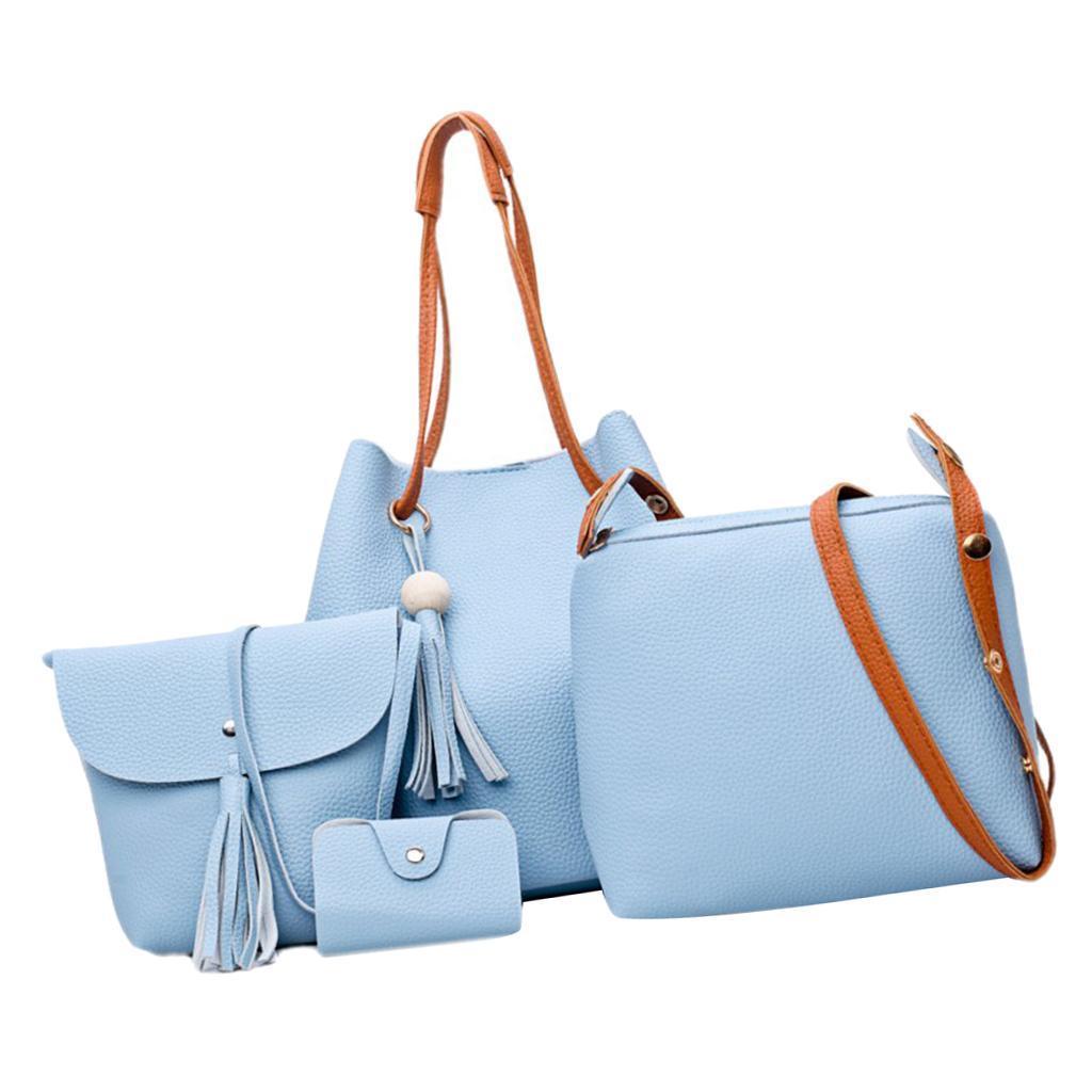 4Damen-Handtasche-mit-Perlenanhaenger-Elegant-Taschen-Shopper-Schultertasche Indexbild 25