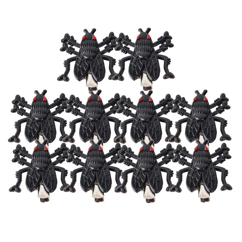Lot-de-10-pinces-a-cheveux-en-forme-d-039-araignee-Halloween-fantaisie miniature 5