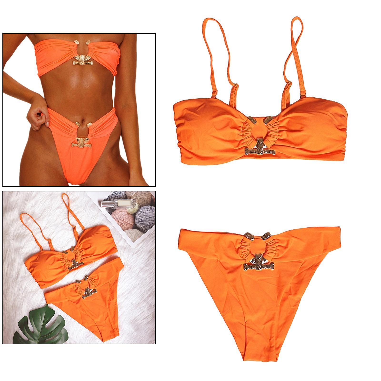 Indexbild 91 - Zwei Stücke Bikini Set Strappy Bademode Party Badeanzug Tankini Bademode