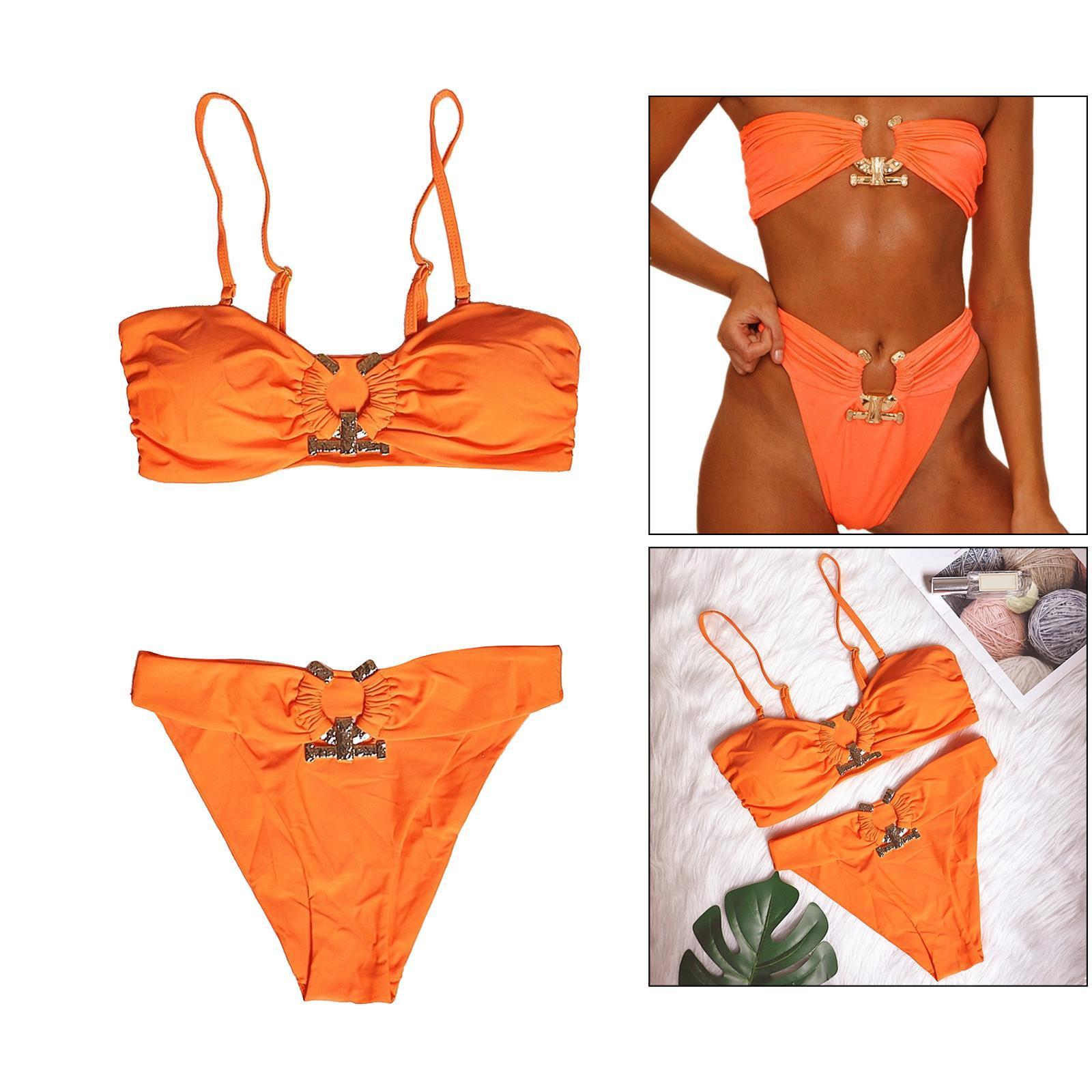 Indexbild 94 - Zwei Stücke Bikini Set Strappy Bademode Party Badeanzug Tankini Bademode