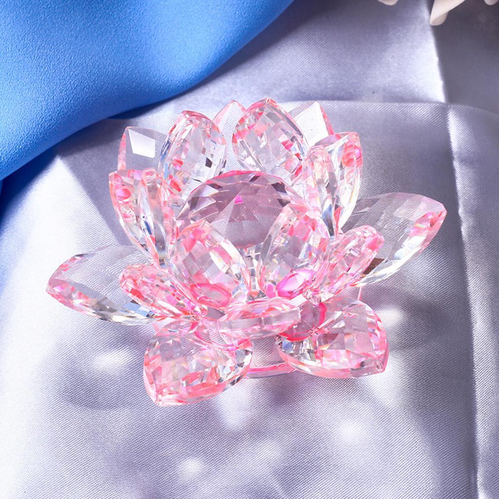 Ornameto-In-Cristallo-Stilo-Fiore-Loto-Feng-Shui-Arredamento-Interno miniatura 32