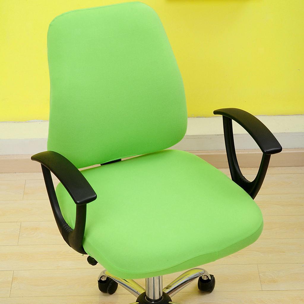 Housse-de-chaise-de-bureau-extensible-souple-Housse-de-chaise-d-039-ordinateur-de miniature 3