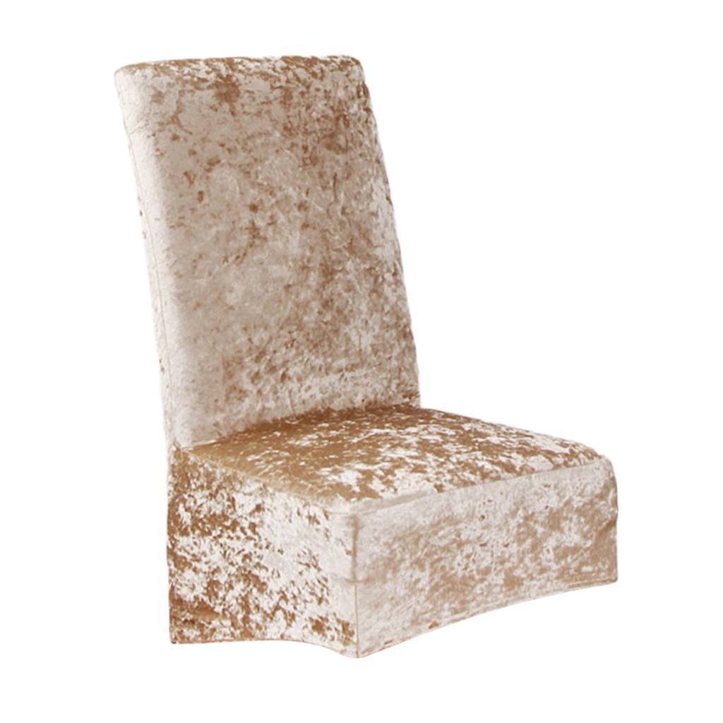 Housses-de-chaise-de-salle-a-manger-Housses-de-siege-coulissantes-en-velours miniature 3