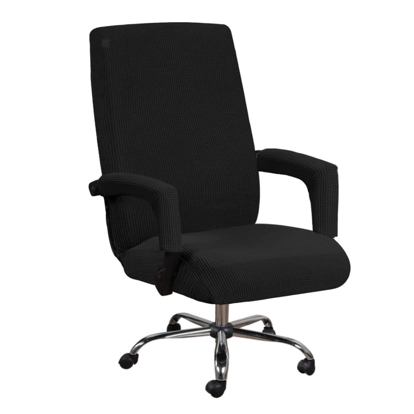 miniature 12 - Housses de chaise de bureau contemporaines à dossier haut et 2 housses de bras