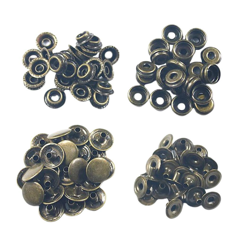 50Pack-Snap-Fasteners-Press-Stud-Button-Leather-Down-Bag-Clouses-Fixing thumbnail 19