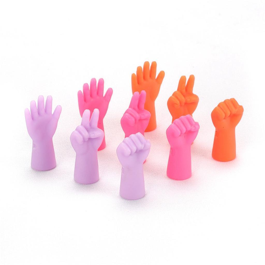 6 pezzi ferri da maglia protezioni per punti / tappi per cucire strumento per