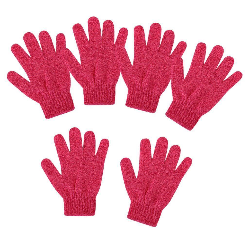 miniatura 12 - 3 Paia Di Guanti Esfolianti Per Il Corpo Body Spa Glove Dry Skin Brush Scrubber