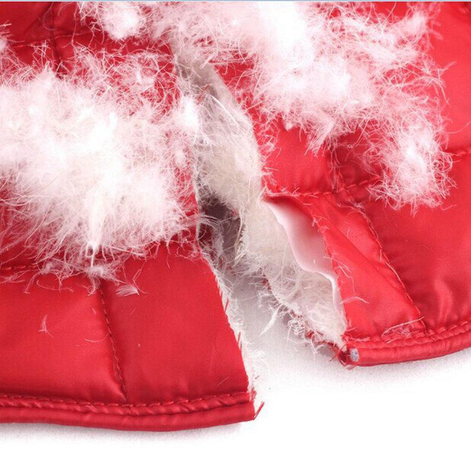 Femmes-Hommes-Down-Jacket-Chaud-Manteau-Court-Epaule-Chaud-Thermique-Wrap miniatura 34