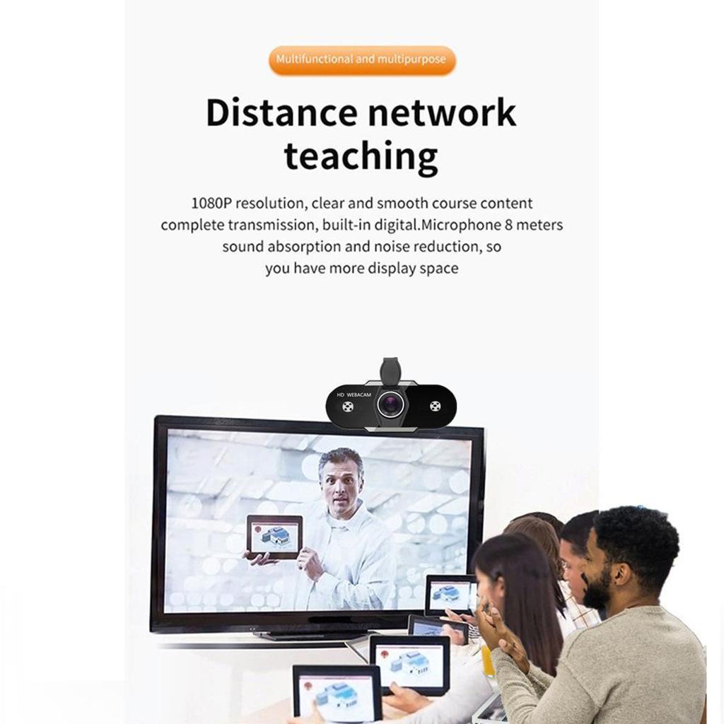 miniatura 16 - Webcam HD, webcam per PC Videocamera per computer mini USB Videocamera con