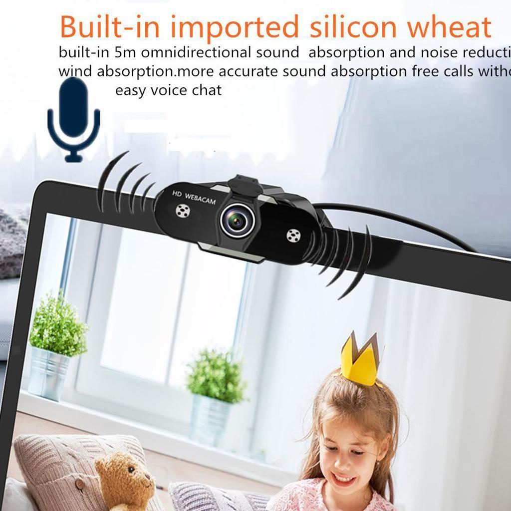 miniatura 15 - Webcam HD, webcam per PC Videocamera per computer mini USB Videocamera con