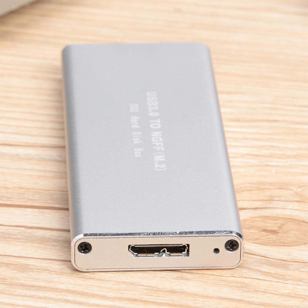 USB-3-0-a-NGFF-M-2-B-Key-SSD-Adapter-Card-Scatola-di-copertura-per-custodia miniatura 6