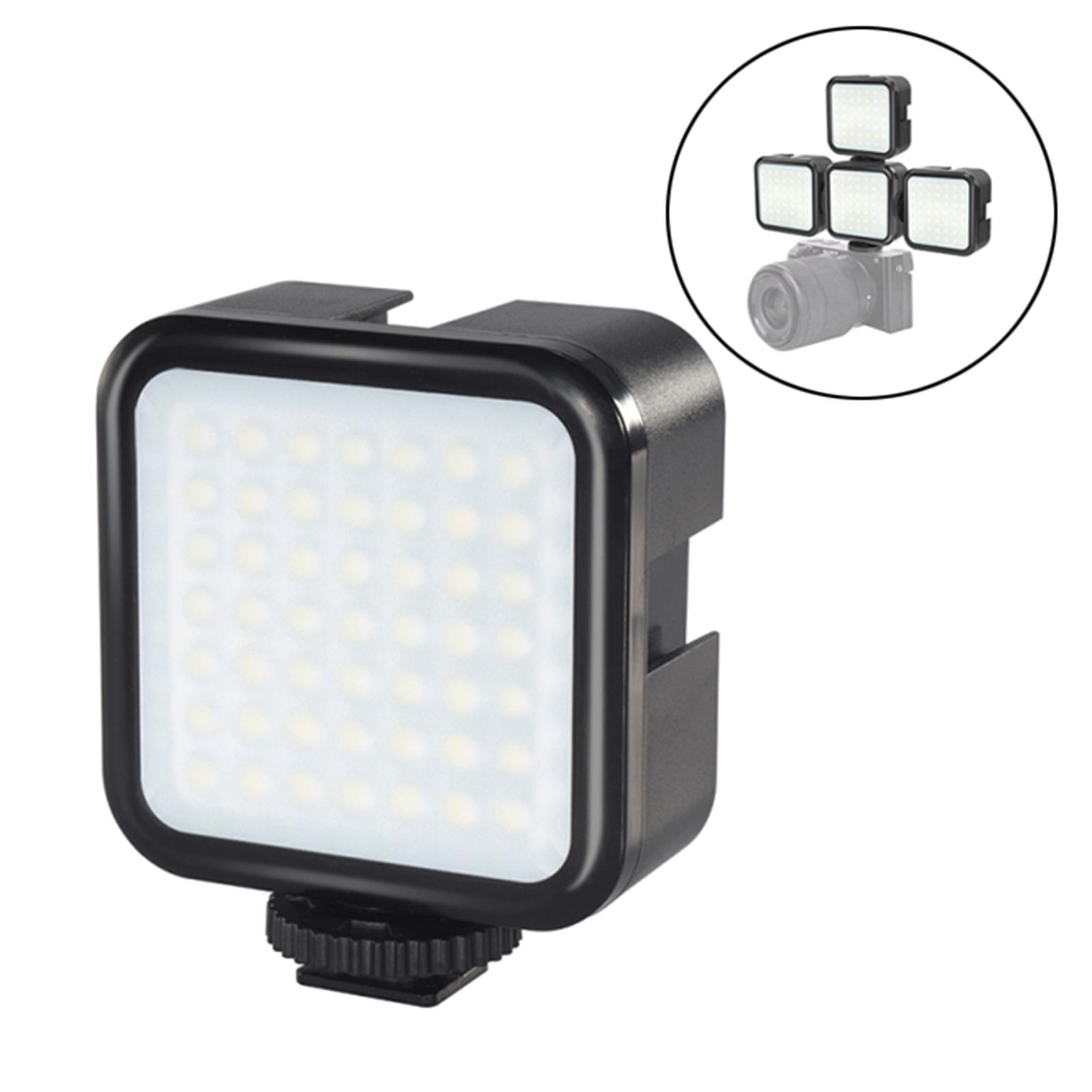 Portable Dimmable Brightness Camera LED Video Light with 3 Cold Shoe Mounts,