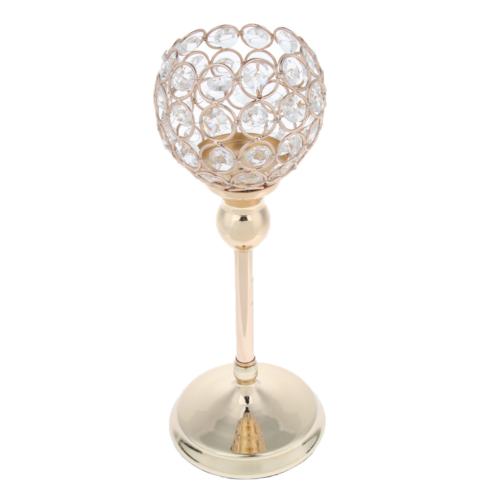 Gold Crystal Candle Holders Coffee Table Centerpiece ...
