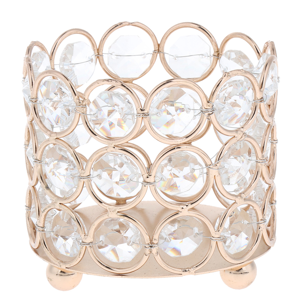 Crystal-Candle-Holder-Tealight-Candlestick-Decorative-Ornament-for-Wedding-Party thumbnail 6