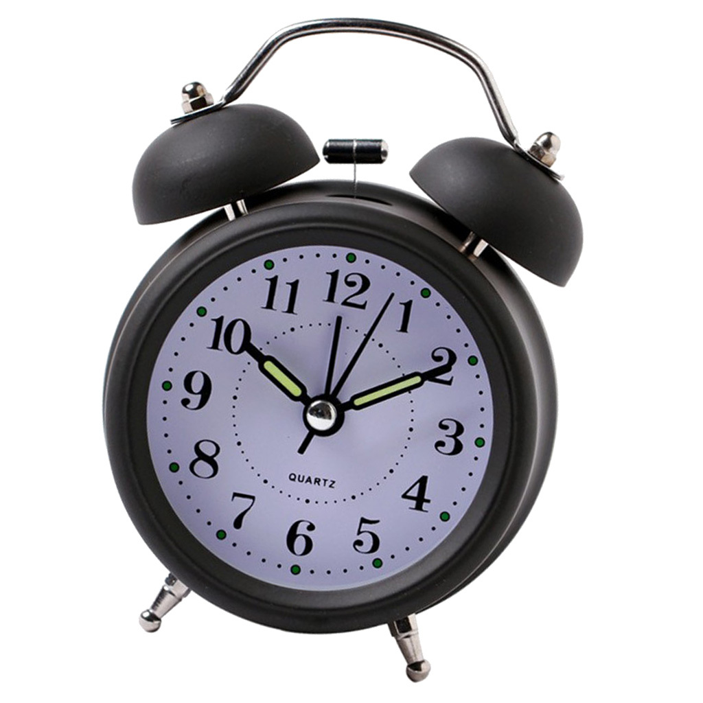 3inch-Travel-Non-ticking-Bedside-Alarm-Clock-Battery-Twin-Bell-Loud-Chime-Clock thumbnail 20