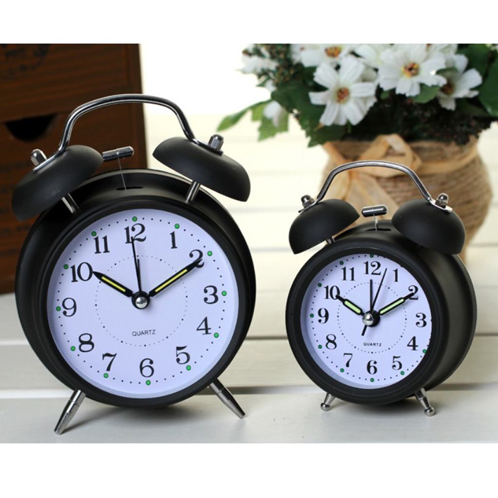 3inch-Travel-Non-ticking-Bedside-Alarm-Clock-Battery-Twin-Bell-Loud-Chime-Clock thumbnail 22