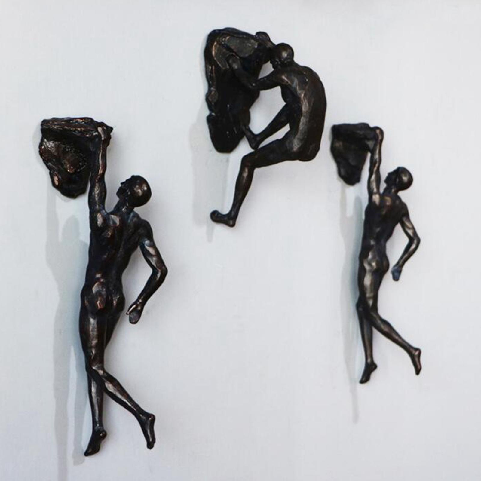 miniatura 72 - Arrampicata Su roccia Figurine Uomo Scalatore Appeso Statua di Attaccatura