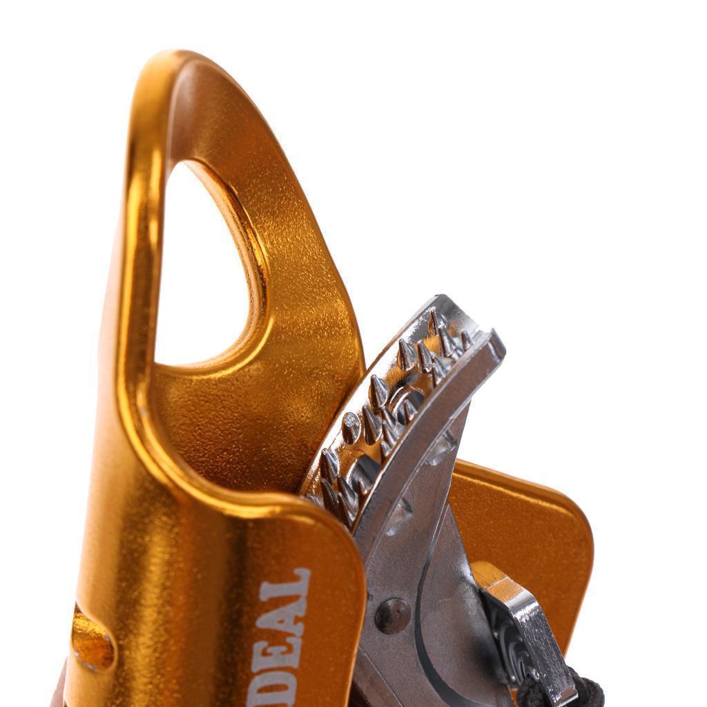 Bloqueur-En-Aluminium-Support-Corde-D-039-escalade-Grimpe-Outil-De-Securite-Grimpeur miniature 6