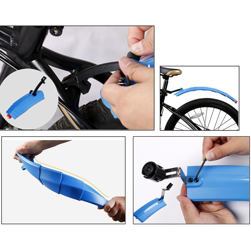 Road-Mountain-Bike-Front-Rear-Mud-Guards-Bicycle-Tire-Mudguard-Fenders-Set miniature 32