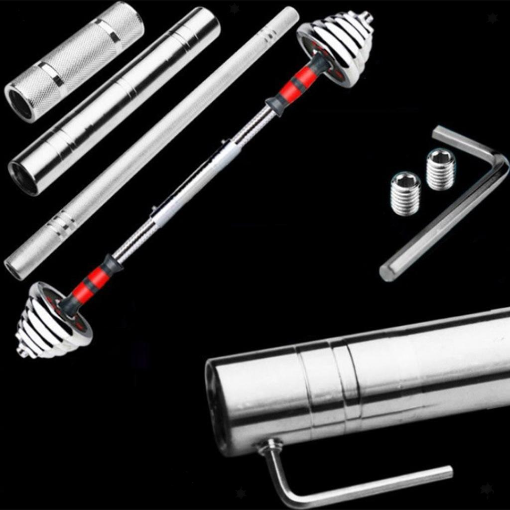 Steel Dumbbell Connecting Bar Screw Barbells Extender Rod Connector DIY Joint