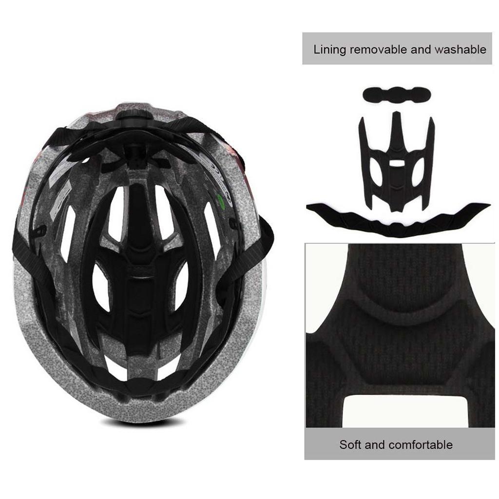 Set of 2 Bike Helmet LED Rear Light Lamp Bicycle Helmets Safety Adults
