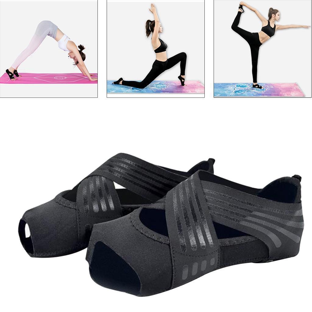 miniatura 90 - 1 Pair Delle Donne di Ballo di Formazione di Yoga Pilates Grip Calzini