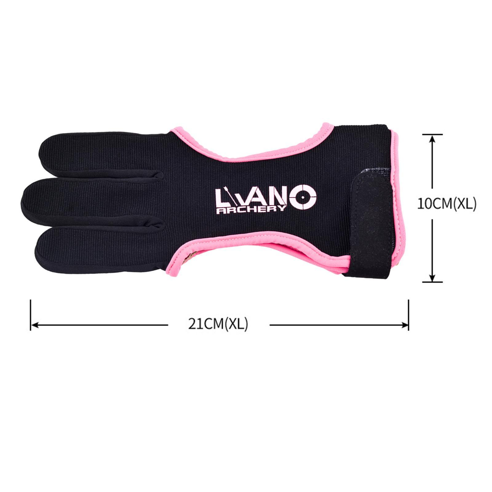 thumbnail 36 - Archery Glove for Recurve & Compound Bow 3 Finger Guard for Women Men Youth