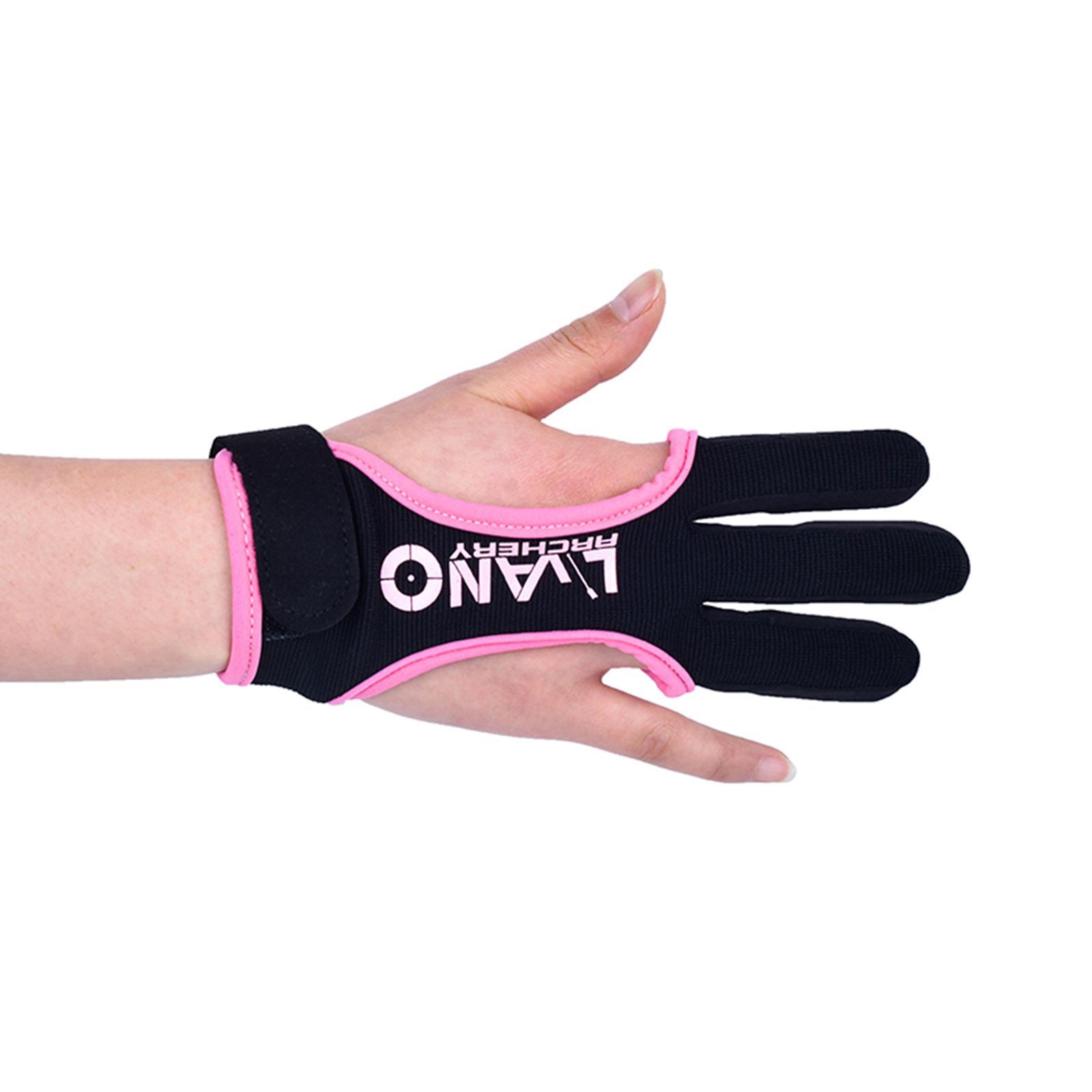 thumbnail 35 - Archery Glove for Recurve & Compound Bow 3 Finger Guard for Women Men Youth
