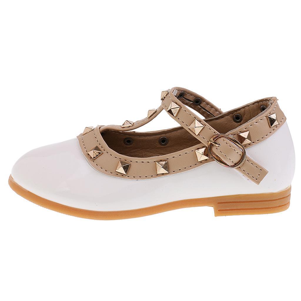 Chaussures-Pour-Enfant-Ballet-Sandales-Paire-Blanc-Accessoire-De-Danse-Fille miniature 14