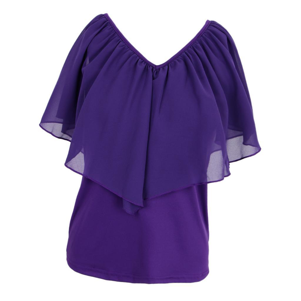 Women-039-s-Casual-Summer-Cold-Shoulder-Cotton-T-shirt-Batwing-Sleeve-Loose-Tops thumbnail 21