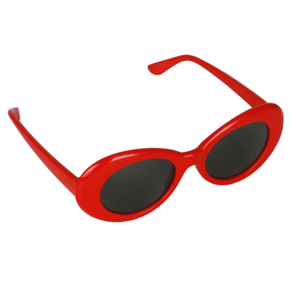 thumbnail 9 - Novelty-Oval-Mod-Thick-Sunglasses-Clout-Goggles-Sun-Protection-Unisex