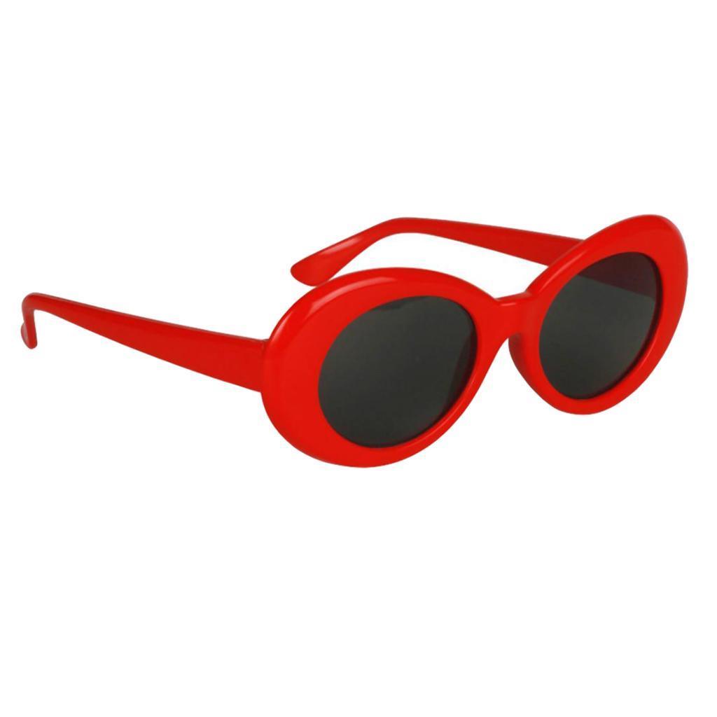 thumbnail 9 - Retro-Kurt-Cobain-Glasses-Clout-Goggles-Sunglasses-Oval-Bold-Mod-Thick-Frame