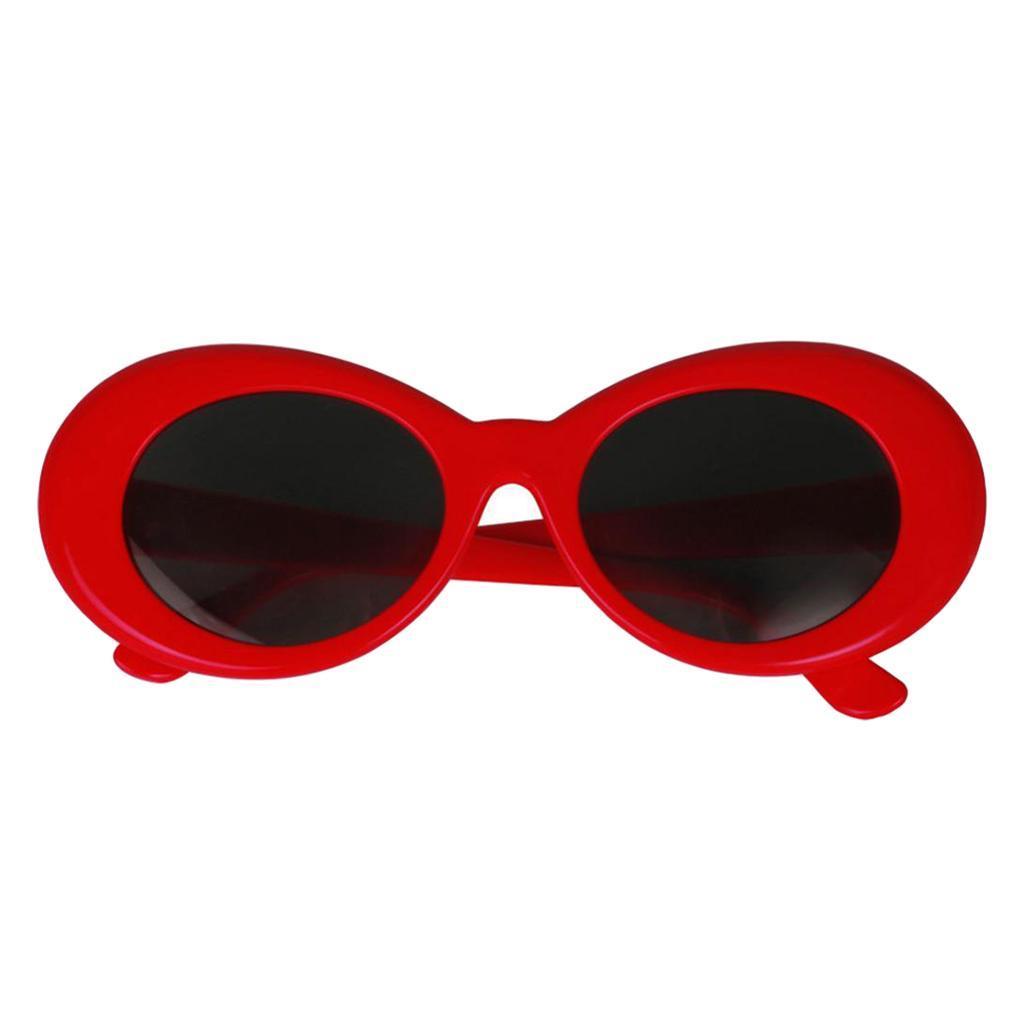 thumbnail 10 - Retro-Kurt-Cobain-Glasses-Clout-Goggles-Sunglasses-Oval-Bold-Mod-Thick-Frame