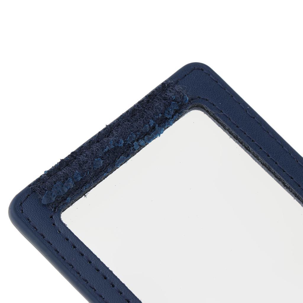 Porte-badges d'affaires d'identification de style vertical de doubles cartes en