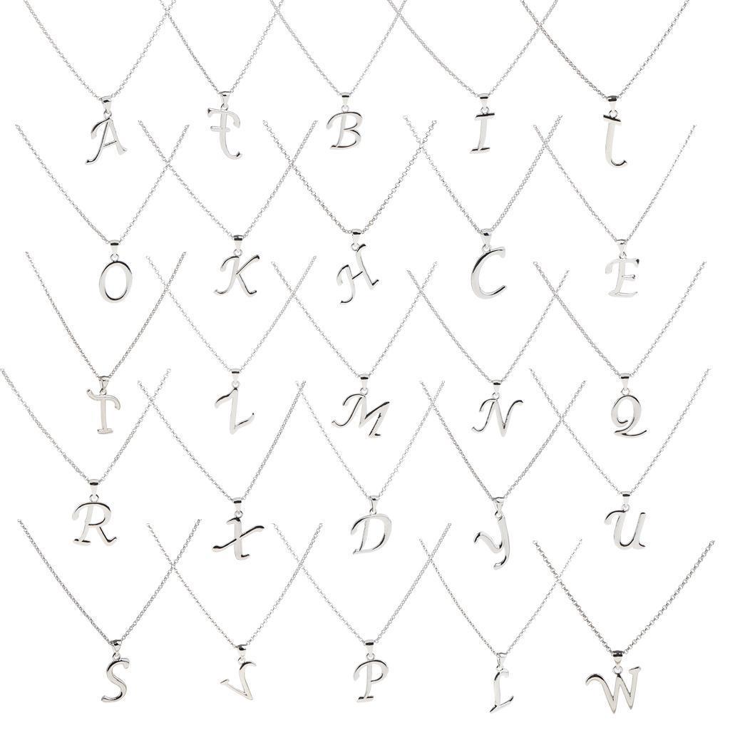 A-Z-Alphabet-Initial-Letter-Pendant-Necklace-Chain-Choker-Jewelry-Men-Women thumbnail 4
